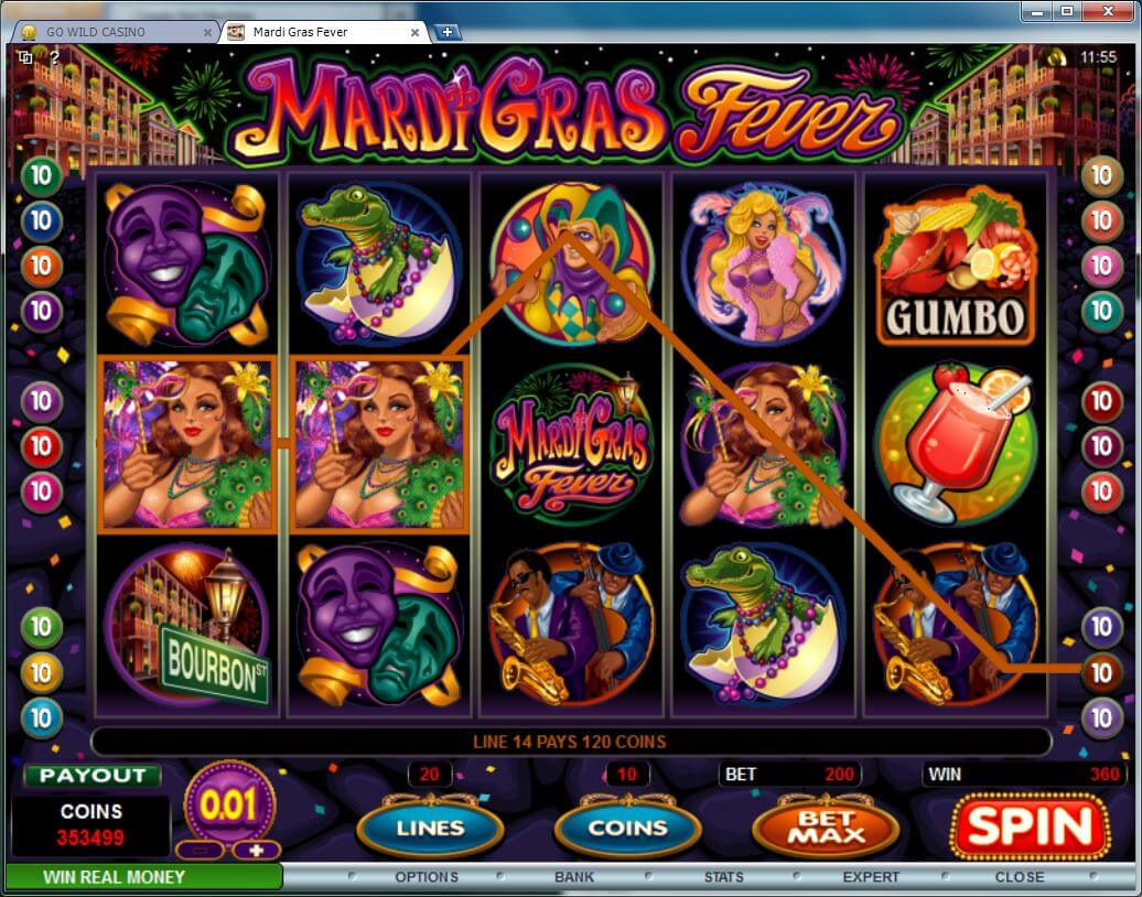 Mardi Gras Fever (Slot Game) (Microgaming) Logo