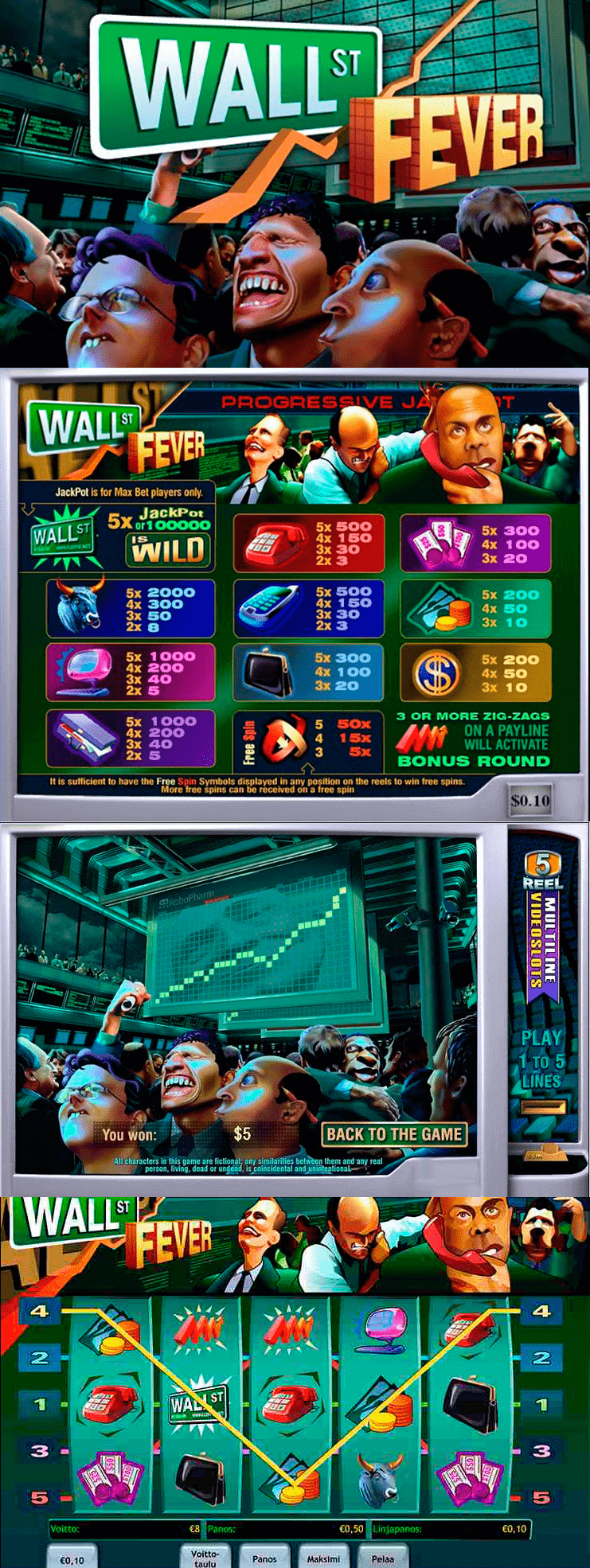 Play Wall Street Fever Slots Online at Casino.com NZ