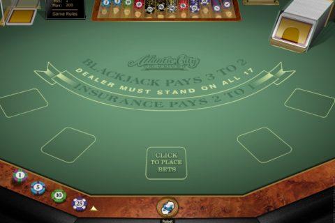 ATLANTIC CITY BLACKJACK slot game logo
