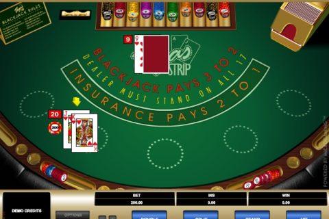 VEGAS STRIP BLACKJACK slot game logo