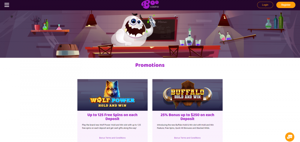 Boo Casino Promotions