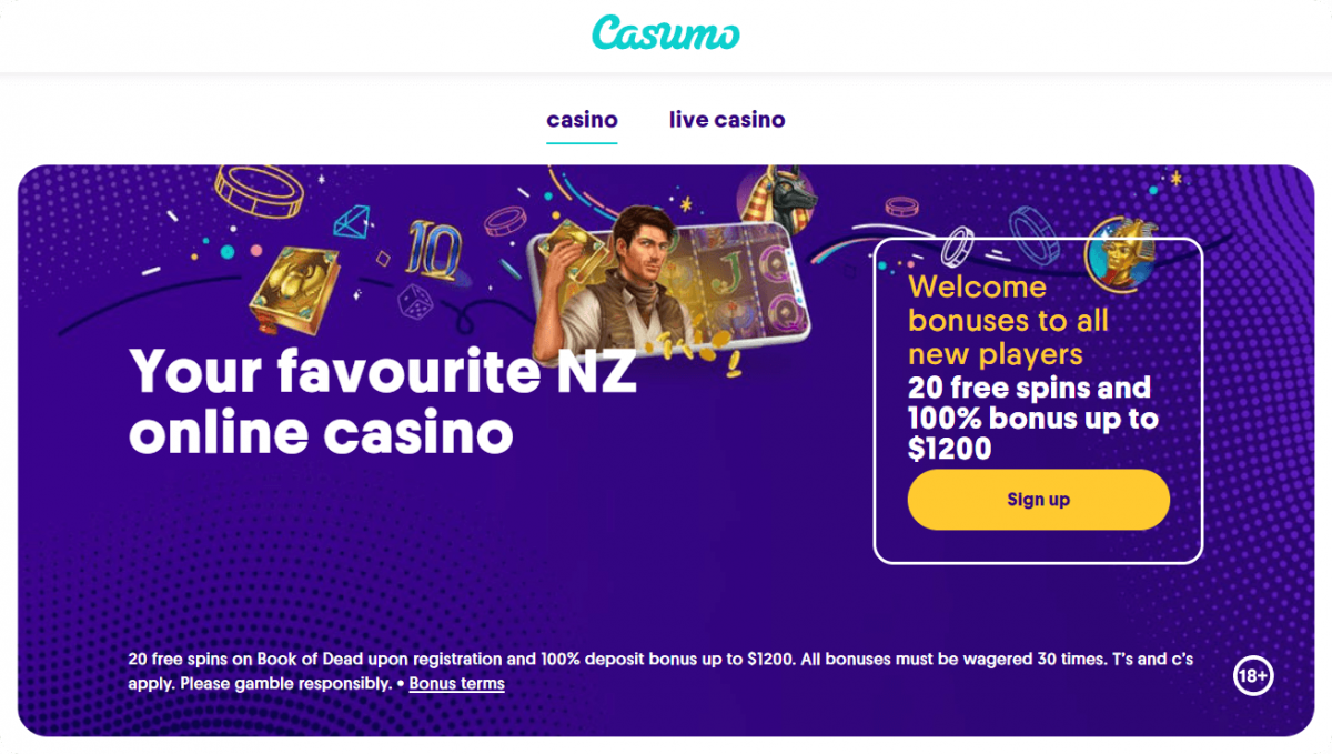 Casumo welcome offer