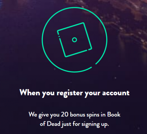 Dunder 20 free spins signup