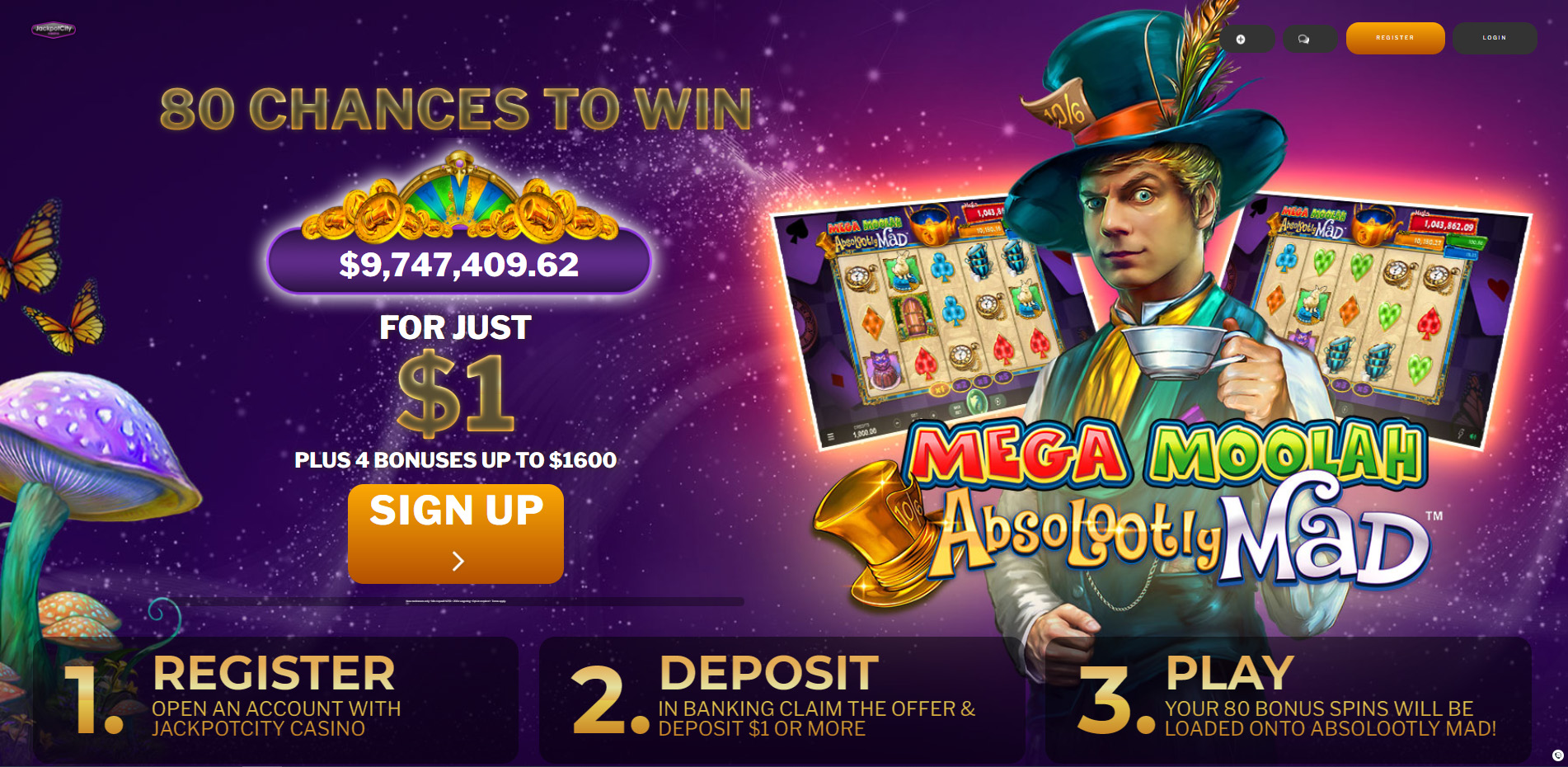 Exclusive JackpotCity offer