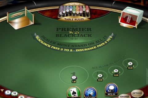 HI LO 13 BLACKJACK (Online Pokie) (Microgaming) Logo