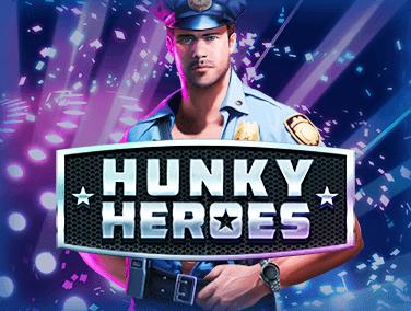 Hunky Heroes (Online Pokie) (Microgaming) Logo