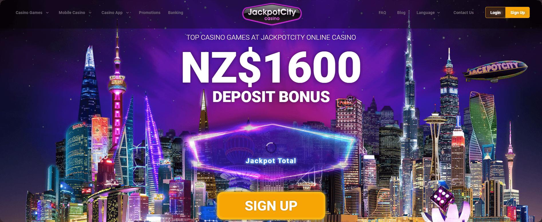 Jackpot City Welcome Bonus offer