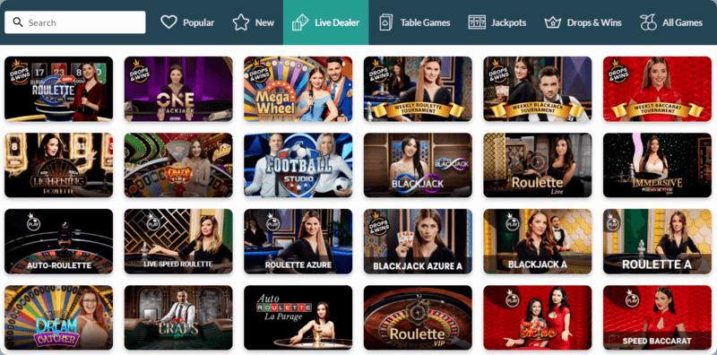 Jackpot Molly Live Casino games