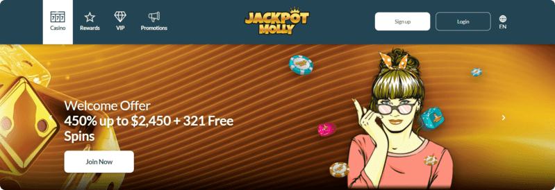 Jackpot Molly Welcome offer