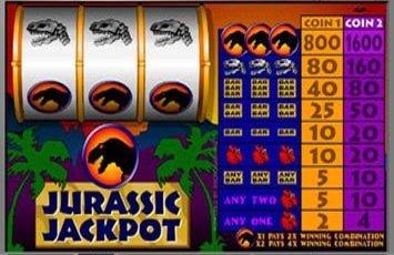 Jurassic Jackpot (Online Pokie) (Microgaming) Logo