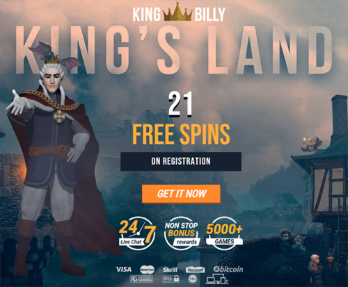 King Billy 21 free spins exclusive