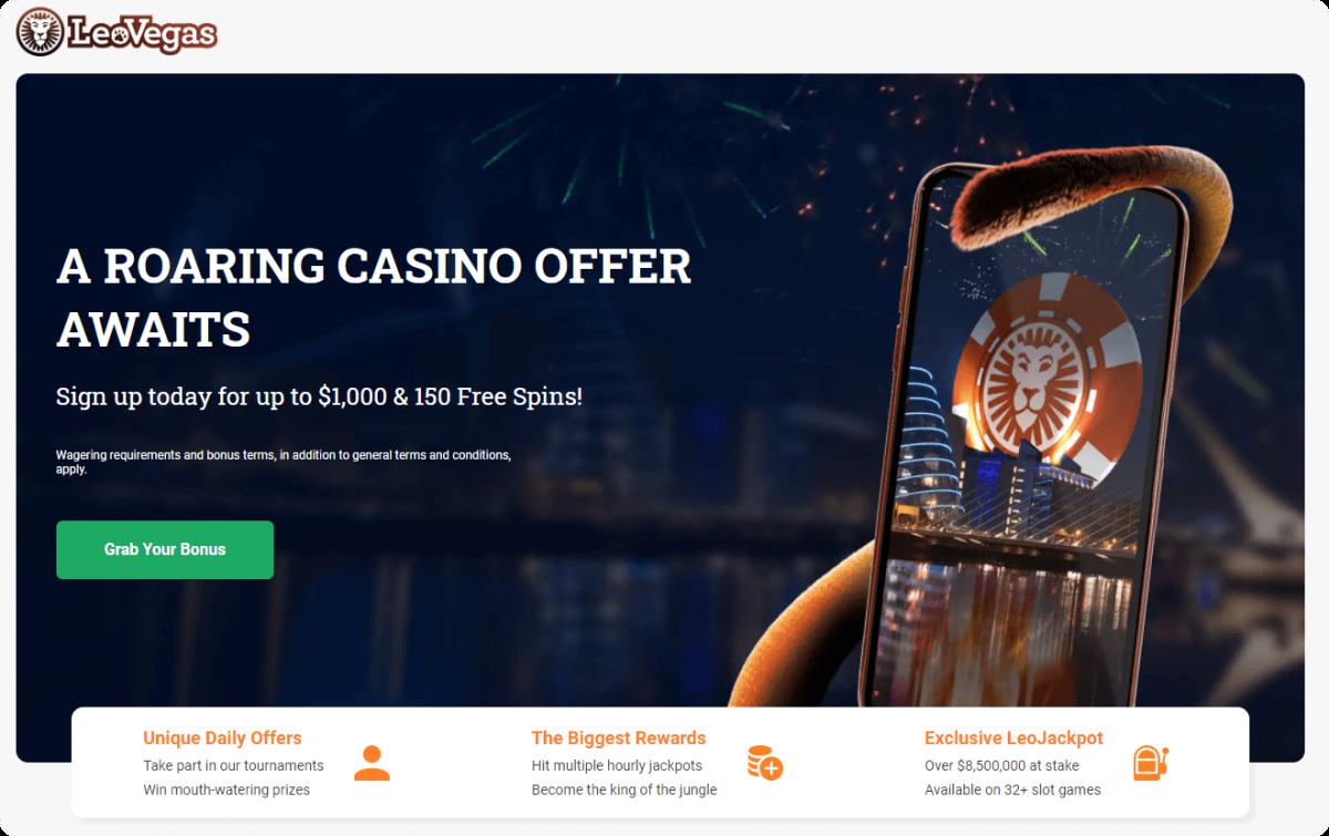 LeoVegas casino intro