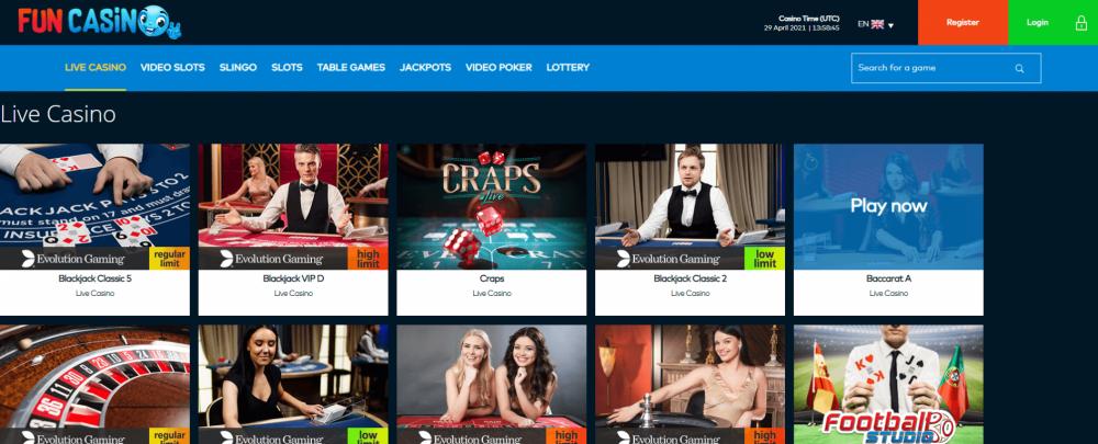 Live casino Fun casino
