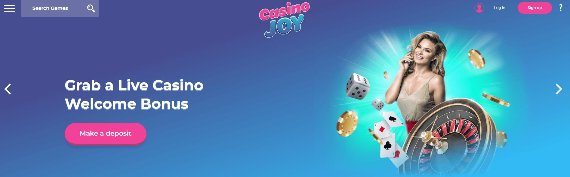 Live Casino welcome casino Joy
