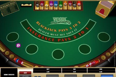 Play VEGAS DOWNTOWN BLACKJACK slot