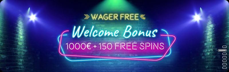 Vegaz wager free welcome bonus