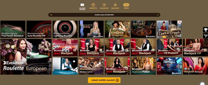 Wilderino live casino no deposit