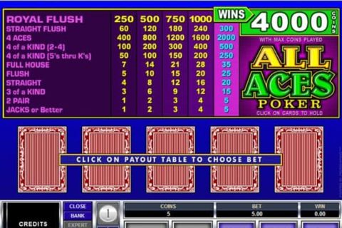 Play All Aces Video Poker slot