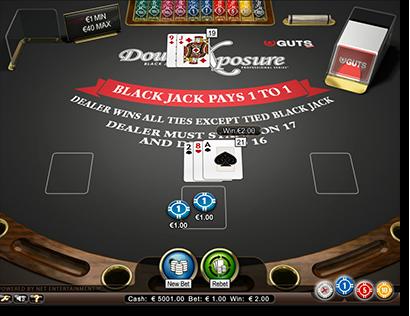 DOUBLE EXPOSURE BLACKJACK (Online Pokie) (Microgaming) Logo