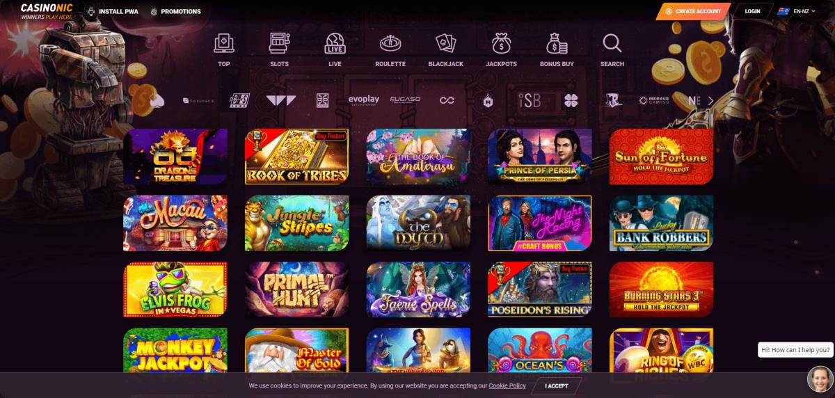 casinonic lobby