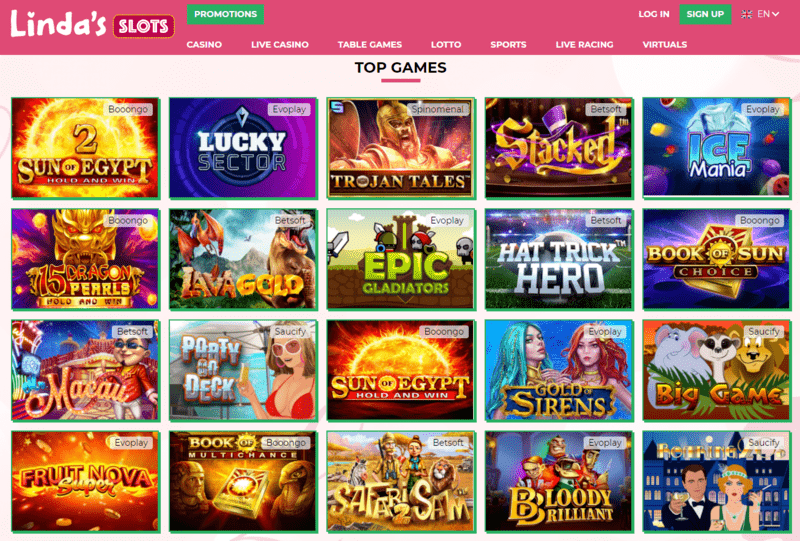 lady Linda slots casino games