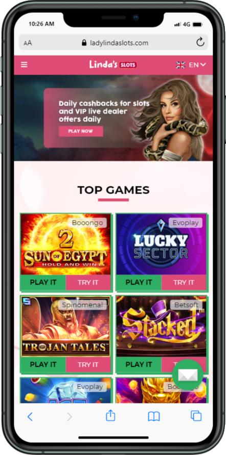 lady Linda slots mobile casino