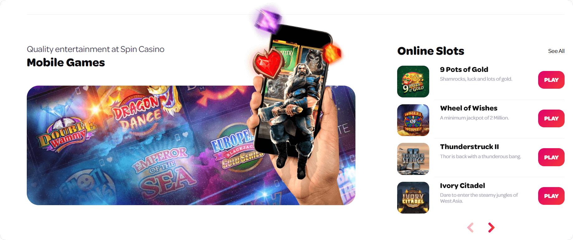 Spin mobile casino