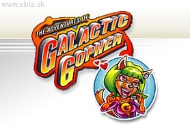 The Adventures of Galactic Gopher (Online Pokie) (Microgaming) Logo